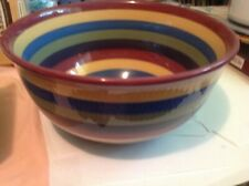 Longaberger Brite Multi Color Stripe Mixing and/or Serving Bowl