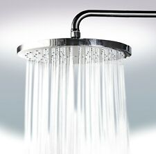 """10"""" Wide Rainfall Wall Mount Shower Head with Swivel Metal Ball Connector Chrome"""