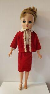 Vintage Uneeda 2S Dollikin Fashion Doll 19 inch, Straight Legs, All Original