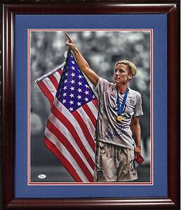 Abby Wambach signed 16x20 Framed photo 2015 USA flag World Cup soccer JSA COA
