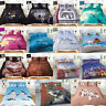 3d Animal Printed Duvet Quilt Cover With Pillow Case Sizes Single Double King