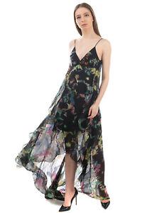 RRP €2635 ETRO Jacquard Maxi Sundress Size 44 / M Silk Blend Hi-Low Open Back