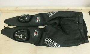 RST Pro Series Genuine Leather Motorcycle Black Trousers Size 32 (Hol)