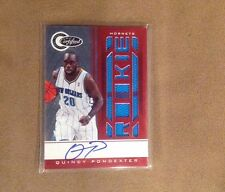 Quincy Pondexter 2011 Certified Red Autograph Patch #/99 New Orleans Hornets NBA