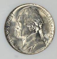1943 P Jefferson War Silver Nickel Choice/Gem BU