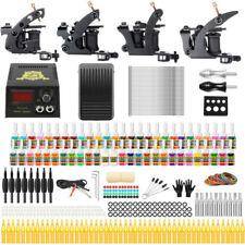 Solong Tattoo Complete Tattoo Kit 4 Machine Gun 54 Ink Needle Power Supply TK457