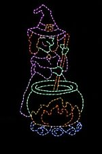 Witch's Brew Halloween witch LED light metal wire frame outdoor yard display