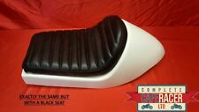 CAFE RACER FIBREGLASS SEAT NEW DOMINATOR STYLE FINISHED IN BLACK WITH DELUXE PAD