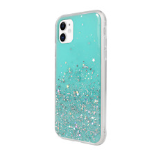 For iPhone 11 - Switcheasy Blue Starfield Quicksand Style Case