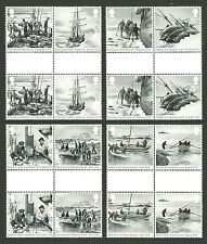 GB 2016 SHIPS EXPLORERS SHAKLETON & THE ENDURANCE EXPEDITION GUTTER PAIRS MNH