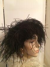 Vintage Art Deco Style Arlette New York Ostrich Marabou Feather Ladies Hat-Beret