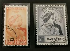 Barbados KGVI 1948 Silver Wedding Set. Superb Used. SG265-266.
