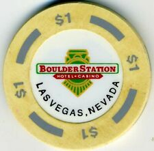 New listing Boulder Station Casino $1 Chip, Las Vegas, Nv F476