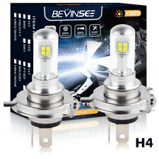 80W 6500K H4 9003 LED Headlight Bulbs For Polaris Indy 340 Touring Deluxe 99-07