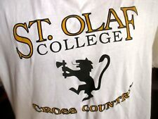 XL True Vtg 90s ST OLAF COLLEGE CROSS COUNTRY TEAM GRAPHIC WHITE T-shirt