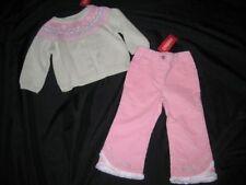 NWT Gymboree Girl SNOW PRINCESS Cardigan Sweater Pink Glitter Pants Lot 18 24