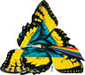 Comfortably Numb STICKER Decal Gustavo Butterfly Wings Pyramid Eye Rainbow G40