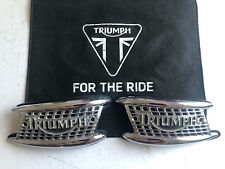 Triumph Thunderbird 900 Chrome Tank Badges T3900076/T3900077