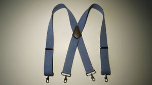 "COLORS X  Style 1 1/2"" & 2"" BELT LOOP SUSPENDERS, Stainless SNAPS. MADE IN USA"