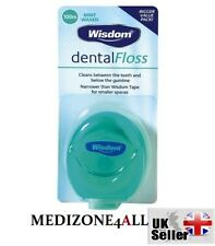 Wisdom Dental Floss Waxed Mint 100m BIGGER VALUE PACK **FREE UK POST**