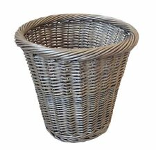 WICKER WASTE PAPER BIN WORK OFFICE BATHROOM COUNTRY ANTIQUE WICKER