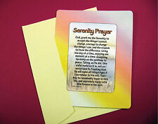 """Serenity Prayer"" Poem (Long Version) -  Keepsake Enclosed Verse Card - Sku# 799"
