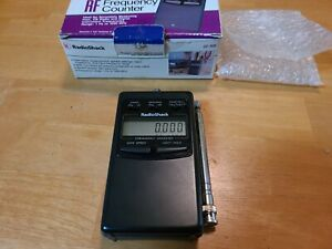 Radio Shack 22-306 LCD RF Frequency Counter in Nice, Working Condition!