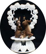 HEEL kick Donkey Wedding Cake Topper Country Western Heart Country western