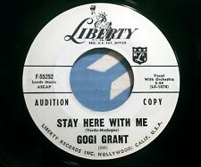 Gogi Grant - Stay Here With Me - Liberty 55252 - Super Nice Promo !!