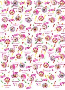 Personalised Barbie Birthday Wrapping Paper