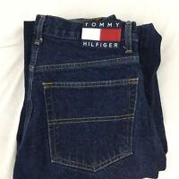 Vintage Tommy Hilfiger Jeans Size 32 x 30  SpellOut Flag 90s Hip Hop Grunge Rave