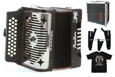 Hohner Panther FBE Button Fa Accordion Acordeon +12X Hard Case_Straps_TShirt NEW