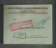 1931 Lodz Poland Bank Meter Registered Cover to Deutsche Bank Berlin Germany 3