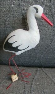 MI Germany Spun Cotton Stork Candy Container