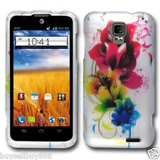 ZTE Mustang Z998 (AT&T) Hard Case Snap-on Phone Cover Case  - Colorful Flower