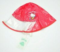 Vintage Hello Kitty Red Rain Hat Girl's Accessories Kids Sanrio 52cm