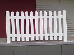 Bausatz1 Zaunfeld gerade, Zaun, Kunststoffzaun, Lattenzaun, Staketenzaun weiß