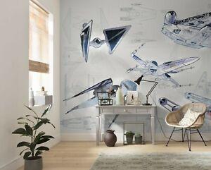 Boy's Bedroom Wall decor Photo Wallpaper Mural 157x110inch Star Wars Blueprint