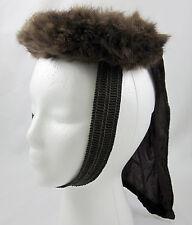 Mink & Velvet Drape New York Creation Vintage Pillbox Ladies Hat Dark Brown Fur