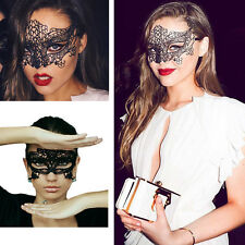Sexy Celeb Lace Floral Black Eye Mask for Fancy Party Festival Club Costume