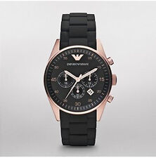 ARMANI Quarz - (Batterie) Armbanduhren aus Edelstahl mit Chronograph