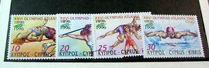 Cyprus Stamp Scott# 885-888 Summer Olympics MNH 1996  H169