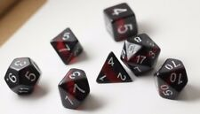 NEW Gem Vine Ruby Red Poly Dice Set (7) Semi- Translucent New RPG DnD Vines