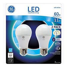 6 new GE LED 11-Watt long life Bulb (3 of 2 pack) Soft White Dimmable 800 Lumens
