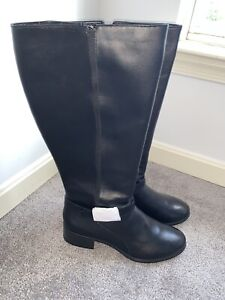 Easy Spirit Nadette Leather Tall Boots Low Heel Sz 12 M Leather Nwob