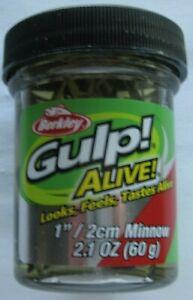 "Berkley Gulp! Alive! Minnow - 1"" - 2.1 oz. Jar - Black Shad"