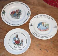 Lot of 3 Vintage Wedgwood Beatrix Potter Peter Rabbit Plates England