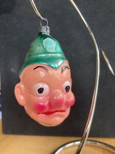 Antique Vintage Police? Man Head German Figural Glass Christmas Ornament
