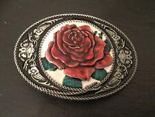 ENGLISH ROSE New BELT BUCKLE Metal England Flower Logo