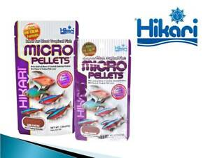Hikari Micro Pellets Granules Small Medium Tropical Fish Food Japan 22g / 45g